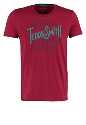 Teddy Smith Tupyoupi Print Tshirt Lucy Red