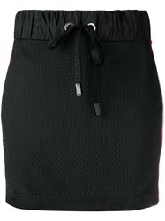 No Ka' Oi Perforated Mini Skirt Black