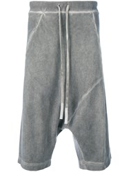 Lost And Found Ria Dunn Dropped Crotch Shorts Cotton Grey