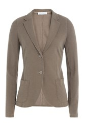 Harris Wharf Cotton Blazer With Linen Brown