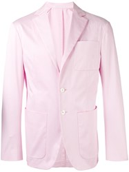 Dsquared2 Long Sleeved Classic Blazer Men Cotton 48 Pink Purple