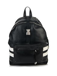 Balmain Leather Safety Buckle Backpack