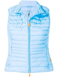 Save The Duck Short Padded Gilet Blue