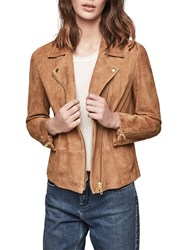 Gerard Darel Leather Valmont Jacket Coffee
