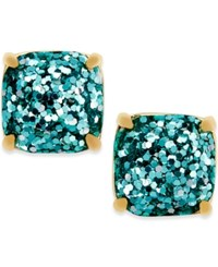 Kate Spade New York Gold Tone Small Square Stud Earrings Turquoise