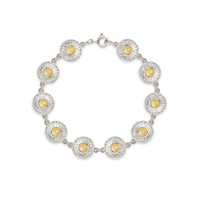 Comach Fine Jewellery Stonegate Silver And Citrine Bracelet White Gold Grey