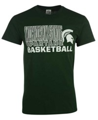 J America Men's Michigan State Spartans Basketball Stack T Shirt Green