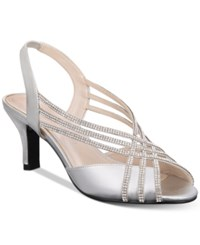 Caparros Twilight Strappy Evening Sandals Women's Shoes Silver Metallic