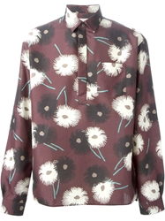 Valentino Floral Print Shirt Red