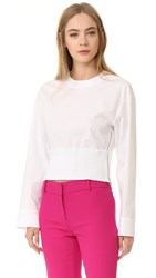 Cedric Charlier Long Sleeve Blouse White