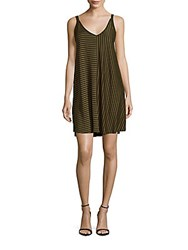 Sandro Rush Striped Tank Dress Green