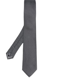 Emporio Armani Patterned Tie Grey