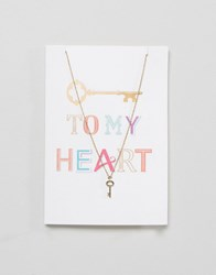 Orelia Valentines Key To My Heart Gift Card Gold