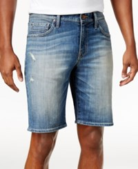 William Rast Men's Kendrick Jean Shorts Matterhorn