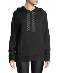 Alala Shift Active Pullover Hoodie Black Pattern