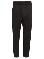 Givenchy Chevron Seamed Panels Relaxed Trousers
