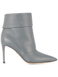 Paul Andrew Banner Stiletto Ankle Boots Grey