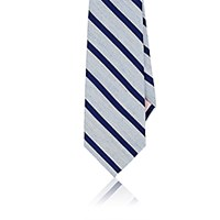 Fairfax Men's Striped Necktie Light Blue