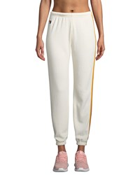 Aviator Nation 5 Stripe Sporty Jogger Sweatpants White