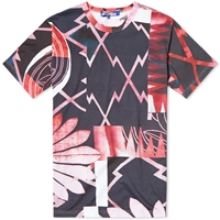 Junya Watanabe Man Floral Print Tee Red And White