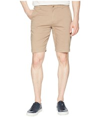 Ben Sherman Stretch Sueded Sateen Shorts Stone White