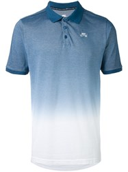 Nike Ombre Polo Shirt Men Cotton Polyester Xl Blue