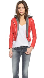 Doma Moto Jacket With Detachable Hood Mandarine Red