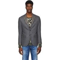 R 13 R13 Grey Studded Tailored Blazer