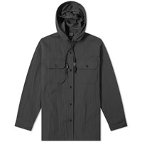 Orslow Hooded Shirt Jacket Blue