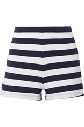 Mds Stripes Lucy Striped Stretch Cotton Jersey Shorts Midnight Blue Gbp
