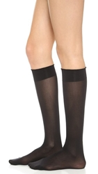Wolford Velvet De Luxe 50 Knee High Socks Black