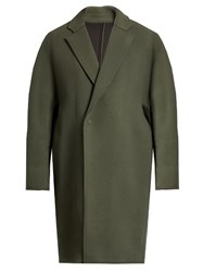Wooyoungmi Oversized Wool And Cashmere Blend Coat Green