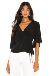 7 For All Mankind Wrap Top Black