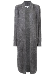 Elizabeth And James Long Open Front Cardigan Grey