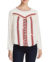 Scotch And Soda Embroidered Blouse Off White