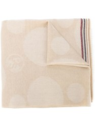 Paul Smith Circle Pattern Scarf Nude And Neutrals