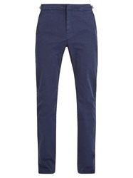 Orlebar Brown Campbell Stretch Cotton Trousers Navy
