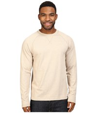 The North Face Long Sleeve Copperwood Crew Dune Beige Heather Men's Clothing