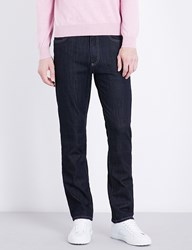 Canali Slim Fit Skinny Mid Rise Jeans Navy
