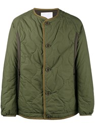 White Mountaineering Primaloft Quilted Jacket Cotton Nylon Polyester Green
