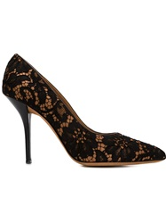 Givenchy Floral Lace Pumps Black