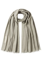 Rick Owens Cotton Scarf With Silk Green