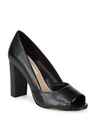Saks Fifth Avenue Charlotte Leather Pumps Black
