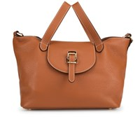 Meli Melo Meli Melo Women's Thela Medium Tote Bag Tan With Contrast Stitching