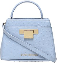 Kurt Geiger Mini Kate Ostrich Leather Bag Pale Blue