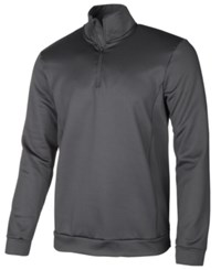 Ideology Id Men's Mock Neck Quarter Zip Shirt Created For Macy's Deep Black