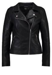 Only Onlcara Faux Leather Jacket Black