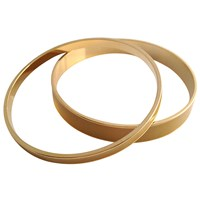 Tuleste Skinny And Wide Enamel Channel Bangles Yellow