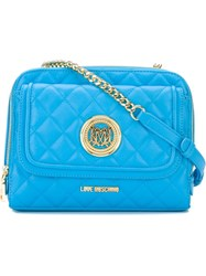 Love Moschino Quilted Cross Body Bag Blue