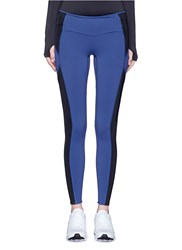 Particle Fever Colourblock Performance Jersey Tights Blue